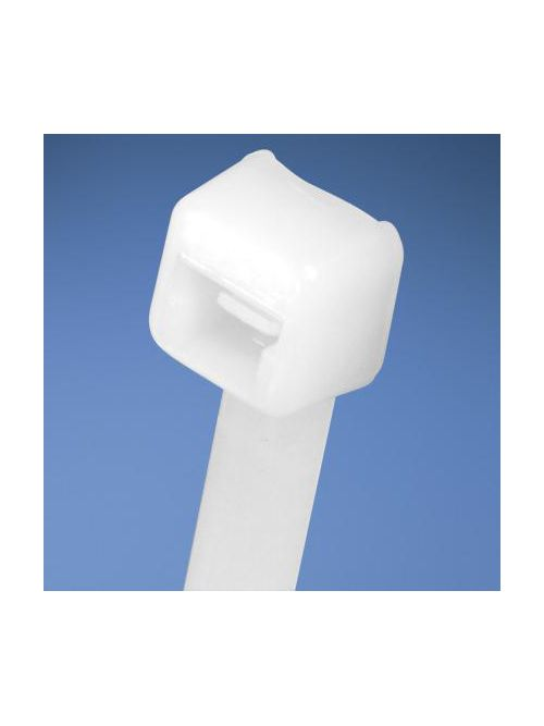 Pan-Ty® locking tie, intermediate cross section, 11.4 (290mm) length, nylon 6.6, natural, standard package.