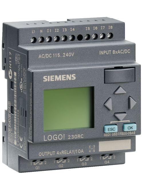 Siemens Industry 6ED10521FB000BA6 72 x 55 x 90 mm 115/230 VAC/VDC 8-Input/4-Output PLC Module