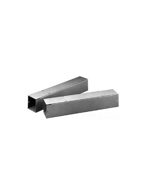 Hoffman F1212T148GVPWK Type 1 Straight Section Wireway with Knockouts