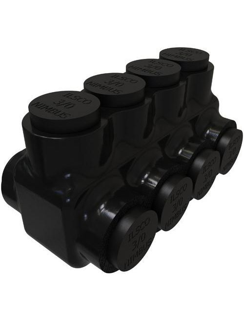 ILSCO PBTD-4-3/0 UL/CSA Listed 3/0-6 AWG 4-Port Dual Rated Aluminum Insulated Mechanical Connector