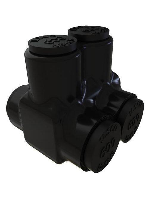 ILSCO PBTD-2-500 UL/CSA Listed 600 MCM 4 AWG 2-Port Dual Rated Aluminum Insulated Mechanical Connector