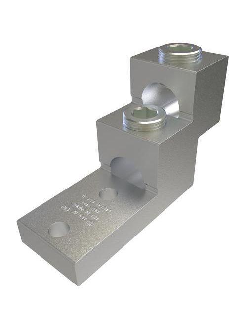 ILSCO PB2-750 UL Rated 750 MCM 1/0 AWG 13/32 Inch Mounting Hole 1-3/8 Inch Hole Spacing Aluminum Mechanical Lug