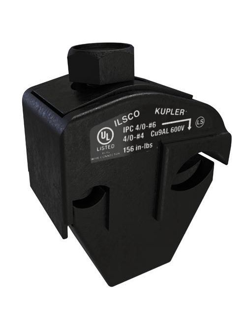 ILSCO IPC-4/0-6 UL/CSA Listed 4/0-4 AWG Main Range 6 - 14 AWG Tap Range Insulation Piercing Connector