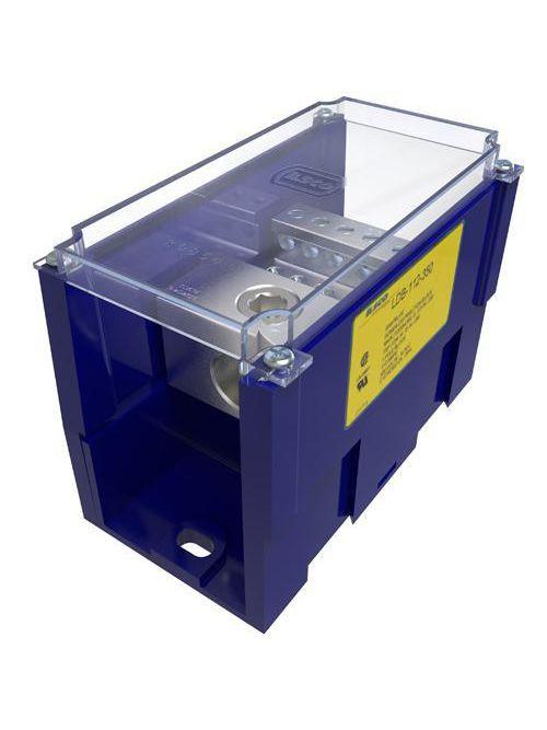 ILSCO LDB-112-350 UL/CSA Listed 350 MCM 6 AWG Primary Range 4 - 14 AWG Secondary Range Aluminum Snap Block