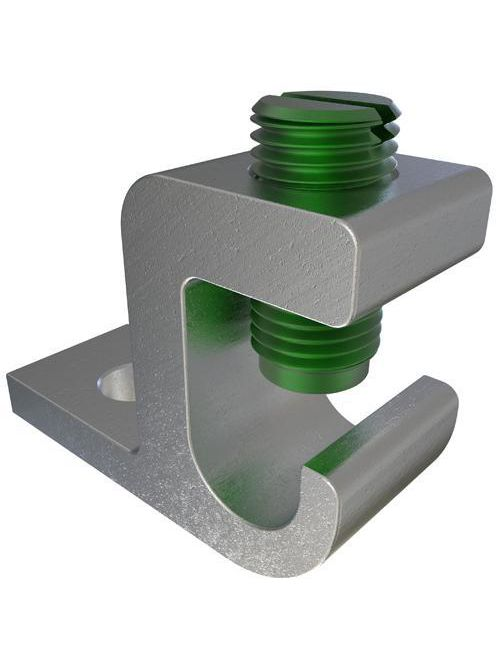 ILSCO GBL-1/0 UL Listed 1/0-14 AWG 9/32 Inch Mounting Hole Aluminum Ground Clamp