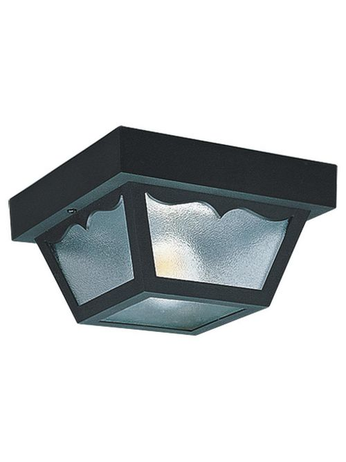Sea Gull Lighting 7569-32 2-Lamp 60 W 120 Volt Black Medium A19 Ceiling Light Fixture