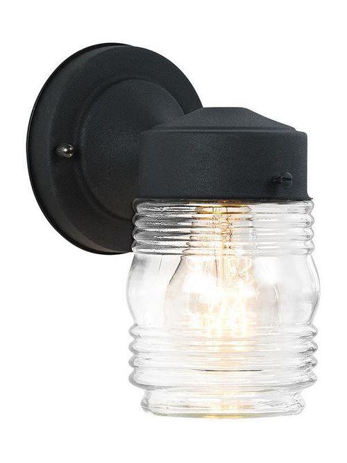 Sea Gull Lighting 8550-12 1-Lamp 100 W 120 Volt Black Medium A19 Wall Mount Light Fixture