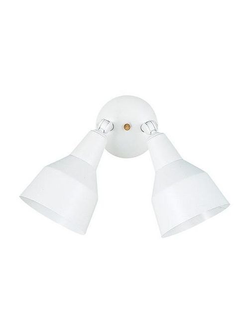 Sea Gull Lighting 8607-15 2-Lamp 15/18/120 W 120 Volt White Medium BR30/BR40/PAR30L/PAR38 Floodlight Fixture