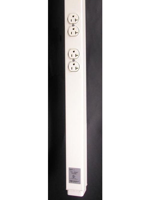 Wiremold 25DTP-412 3.8 m 125 Volt 20 Amp Ivory Steel 2-Compartment Power and Communication Pole
