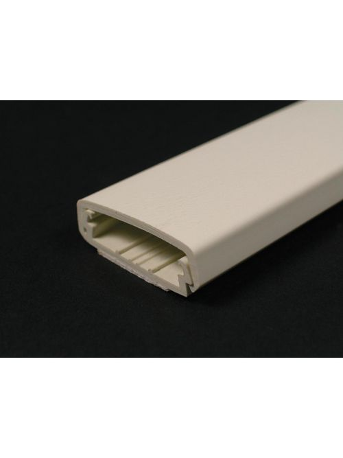 Wiremold 2300BAC-WH 5 Foot x 2-1/4 x 11/16 Inch White Non-Metallic 1-Channel Raceway Base and Cover