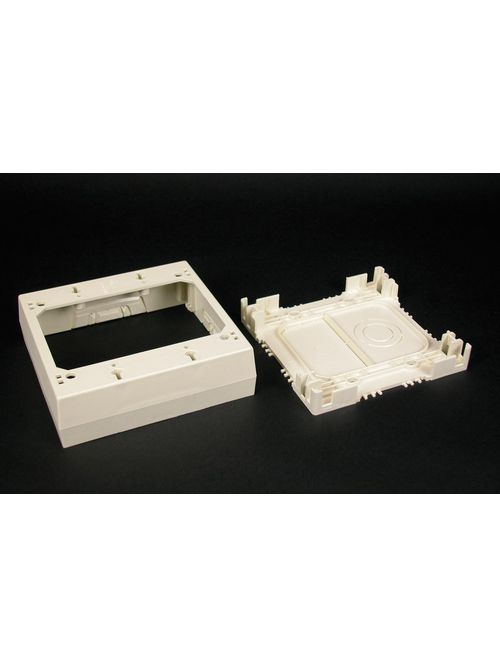 Wiremold 2347-2-WH 4-3/4 x 4-7/8 x 1-3/8 Inch White Non-Metallic 1-Channel Raceway 2-Gang Device Box