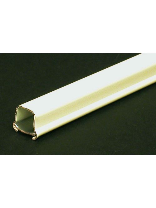 "Wiremold V700 21/32 x 3/4"" Ivory Steel 1-Channel 1-Piece Surface Raceway"