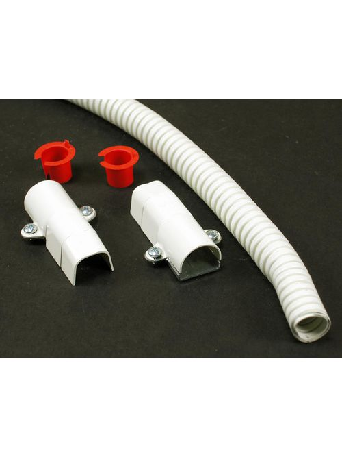 "Wiremold V5700F 18"" Ivory Steel 1-Channel Raceway Flexible Section"