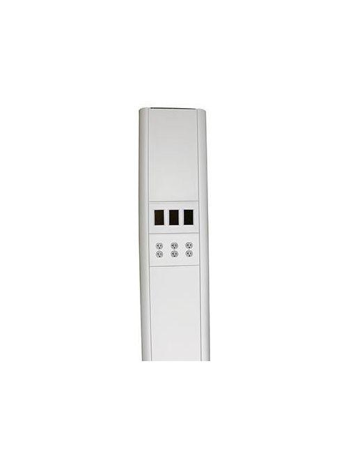 Wiremold VL662345FF 6 x 13-3/8 x 3-25/32 Inch 10 Foot Anodized Aluminum Multi-Service Pole