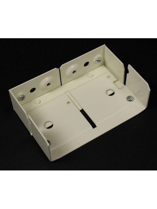 "Wiremold V4017 3-1/8 x 1-1/2"" Ivory Steel Multiple Channel Raceway Internal Elbow"