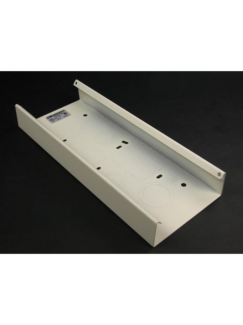 Wiremold V4014A 12 Inch Ivory Steel Multiple Channel Raceway Wall Box Connector