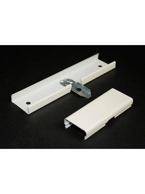 Wiremold V2089 6 Inch Ivory Steel 1-Channel Raceway Side Reducing Connector