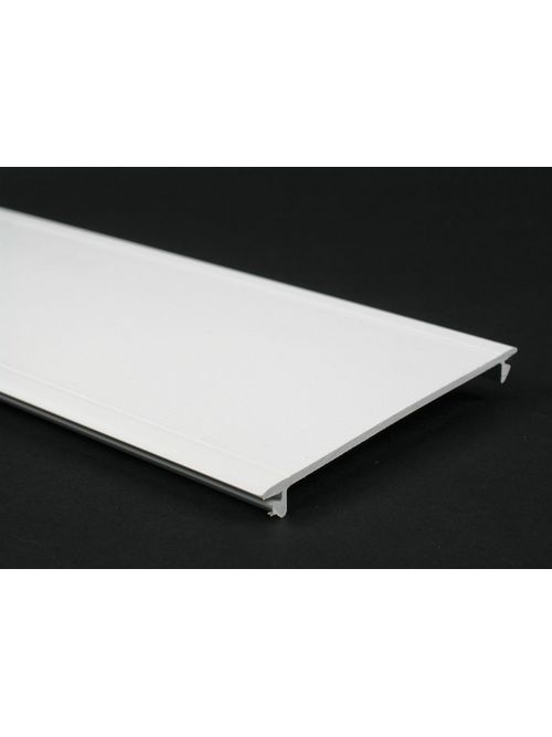 """Wiremold 5400C 8 Foot x 5"""" Ivory Non-Metallic Multiple Channel Full Width Raceway Cover"""