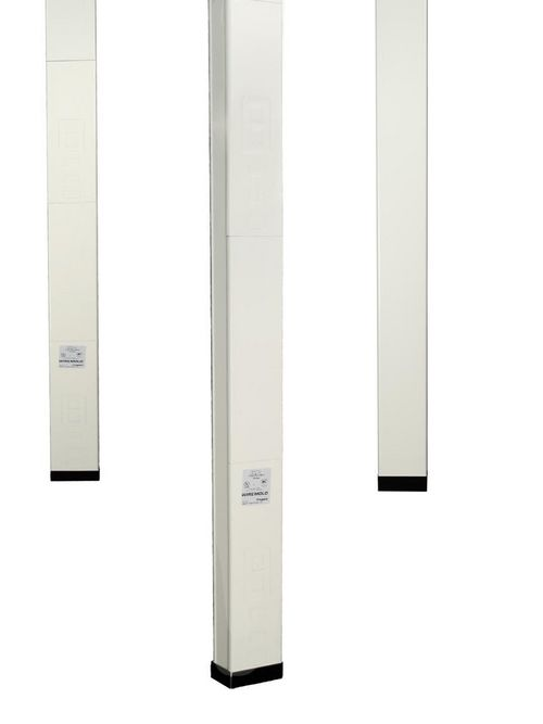 Wiremold 30TC-2V 3.2 m Ivory Steel 1-Compartment Power and Communication Pole