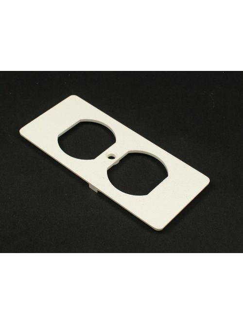 Wiremold 5507D Non-Metallic Duplex Ivory Faceplate