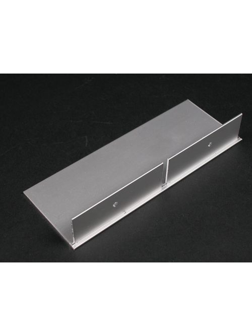 Wiremold ALA4810B 6 x 2-3/16 Inch Satin Anodized Aluminum 2-Channel Raceway Blank End