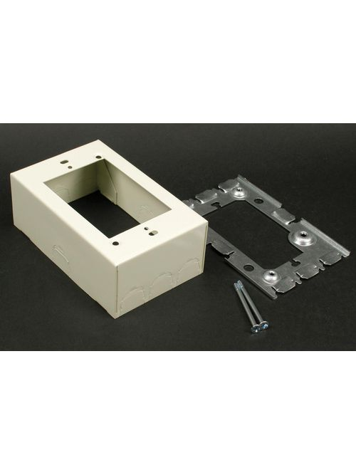 Wiremold V5751A 4-5/8 x 2-7/8 x 1-3/4 Inch Ivory Steel 1-Channel Raceway Deep Flush Type Extension Adapter
