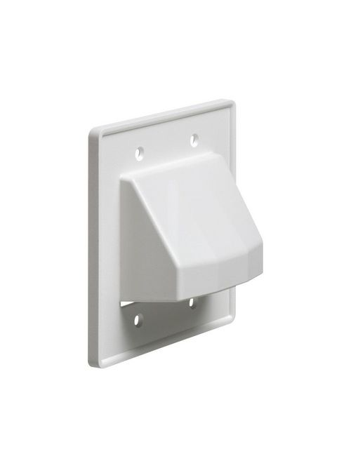 Arlington CE2 White 2-Gang Scoop with Low Voltage Plate
