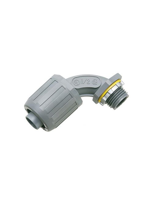 Arlington NMLT905 1/2 Inch 90 Degree Snapit Non-Metallic Push-On Connector
