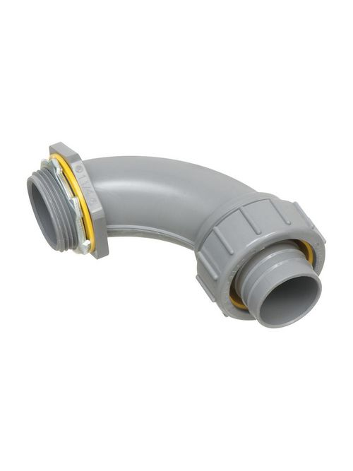 Arlington NMLT90125 1-1/4 Inch PVC Liquidtight 90 Degree Connector