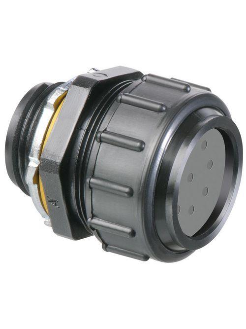 Arlington NMPV100 1 Inch Black Straight Connector