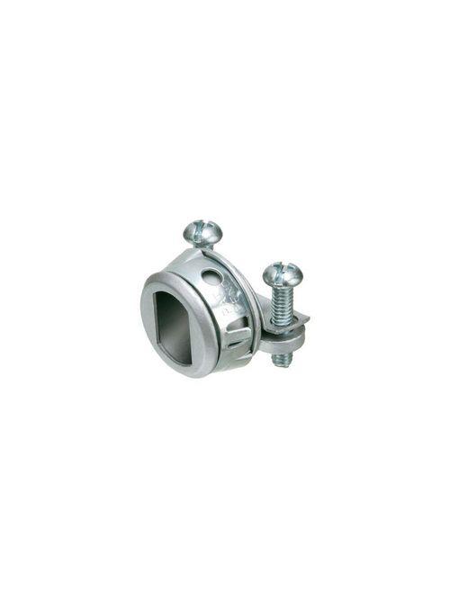 """Arlington 840ST 3/8"""" Snap-Tite® NM / SE / MC / BX Oval Connector, Zinc Die-Cast"""
