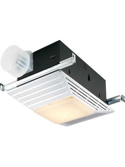 "Broan 655 12.8 Amp 120 Volt 70 CFM 4 Sones 1536 W 16-3/4 x 10-5/8"" Steel Grille Ventilation Heater/Fan with Lamp"