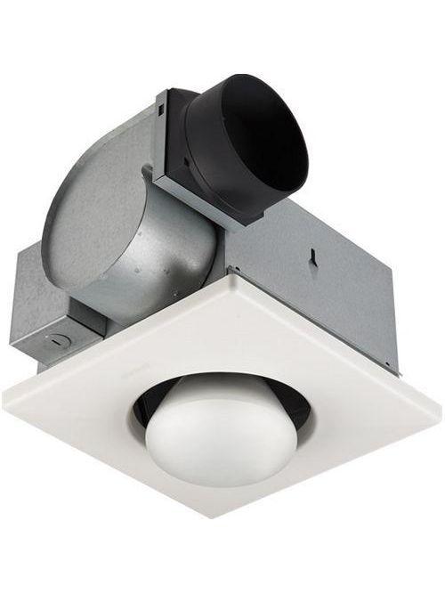"Broan 162 2.5 Amp 120 Volt 70 CFM 3.5 Sones 300 W 10-1/4 x 10-1/4"" White Polymeric Grille 1-Bulb Heater"