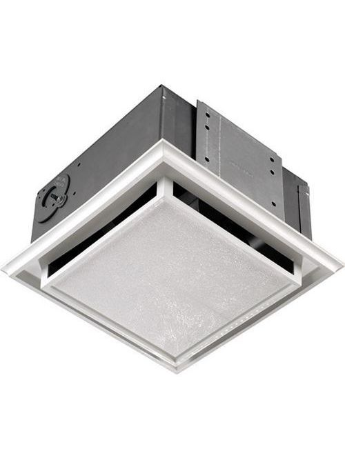 "Broan 682 1 Amp 120 Volt 8-1/2"" x 8-1/2"" White Polymeric Grill Ceiling/Wall Fan"