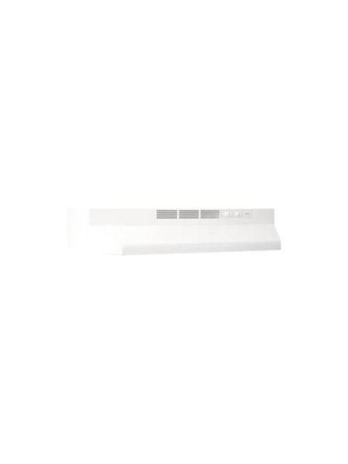 Broan 412401 2 Amp 120 Volt 24 x 17-1/2 x 6 Inch White Monochromatic Range Hood