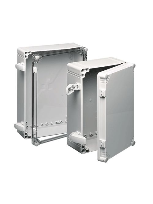 Hoffman Q303018PCIQRR 11.34 x 11.34 x 6.81 Inch Polycarbonate NEMA 4X Enclosure