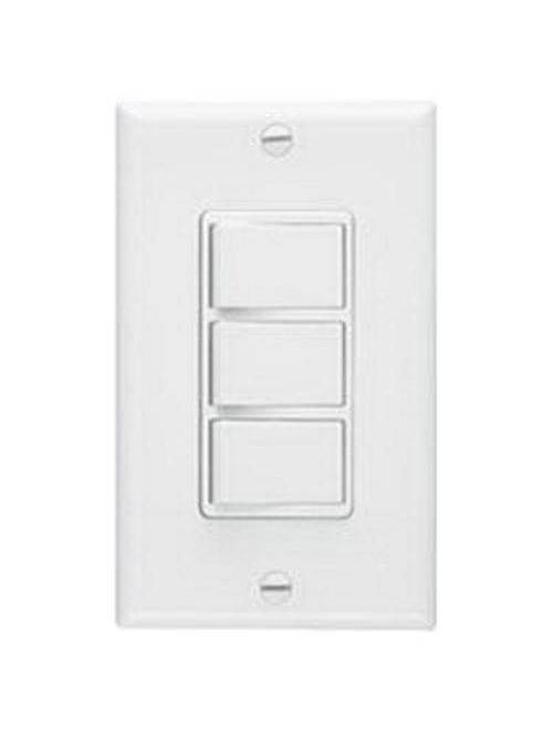 Broan 66W 15-20 Amp 120 VAC 1-Gang White 3-Function Control Switch