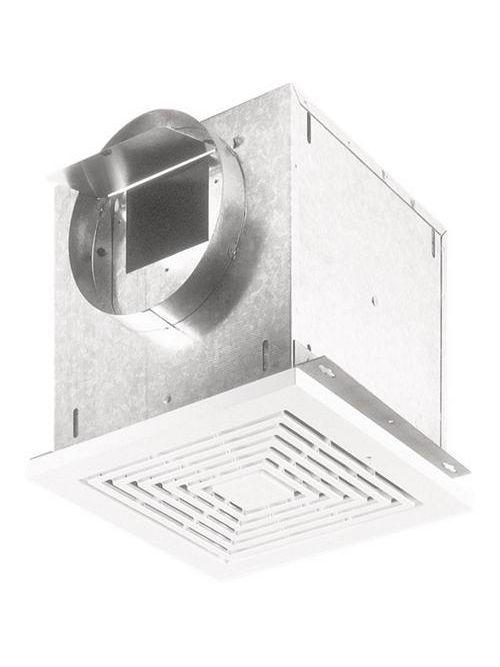 Broan L200 1.8 Amp 120 VAC 210 CFM 1.7 Sones 14 Inch White Polymeric Square Grille Ceiling Mount Ventilator