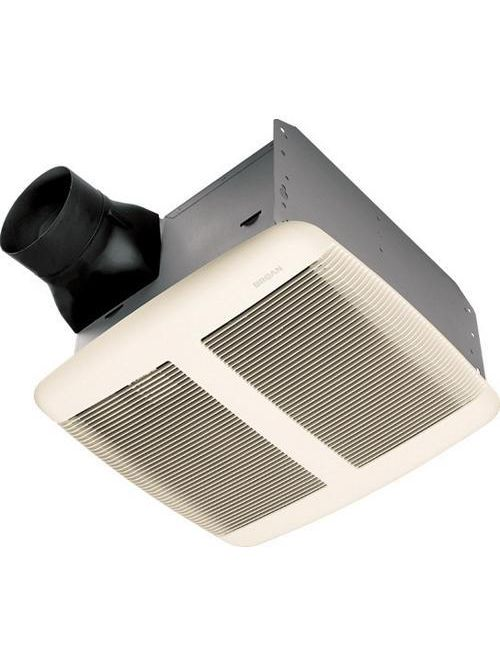 Broan QTRE080 0.3 Amp 80 CFM 0.8 Sones 13 x 14 Inch Grille 26 Gauge Galvanized Steel Ventilation Fan