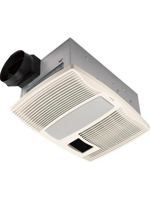 Broan QTX110HL 14.6 Amp 120 Volt 110 CFM 0.9 Sones 1500 W 20 x 15 Inch Grille Ventilation Fan/Heater with Lamp