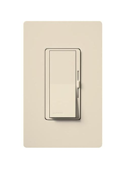 Lutron DVCL-153P-LA 150 W 120 VAC Light Almond Dimmable Compact Fluorescent/LED 1-Pole/3-Way Wall Dimmer