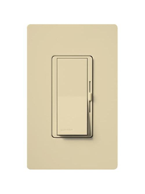 Lutron DVCL-153PH-IV 150 W 120 VAC Ivory Dimmable Compact Fluorescent/LED 1-Pole/3-Way Wall Dimmer