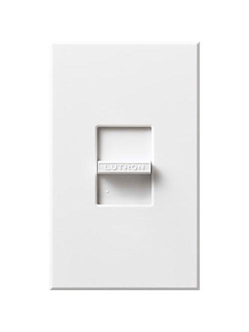Lutron N-600-WH 600 W 120 Volt 1-Pole Incandescent White Slide Dimmer