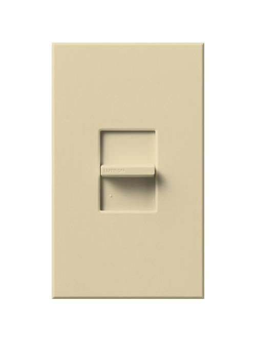 Lutron Electronics NT-1PS-IV 120/277 VAC 20 Amp 1-Pole Brass/Copper Terminal Ivory Linear Slide Switch