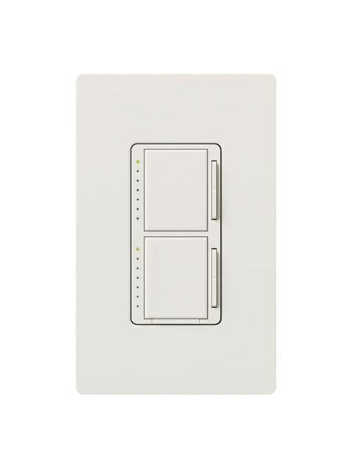 Lutron MA-L3L3-WH 300 W 120 Volt White 1-Pole Incandescent/Halogen Digital Fade Dimmer
