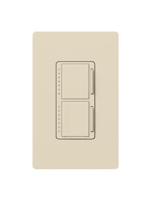 Lutron MA-L3L3-LA 300 W 120 Volt Light Almond 1-Pole Incandescent/Halogen Digital Fade Dimmer