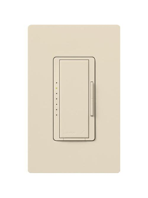 Lutron MRF2-600M-LA 600 W 120 Volt Light Almond 1-Pole/Multi-Location Digital Fade Wireless Wall Dimmer