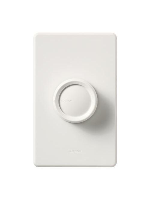 Lutron Electronics D-600P-WH 600 W 120 VAC White 1-Pole Incandescent/Halogen Wall Dimmer with Push On-Off Knob