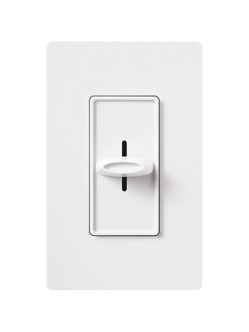 Lutron SFS-5E-WH 1-Pole 5 Amp 120 VAC Variable Speed White Slide to Off Fan Speed Controller