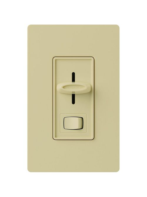 Lutron S-600PH-IV 600 W 120 VAC Ivory 1-Pole Incandescent/Halogen Preset Slide Dimmer with Rocker Switch